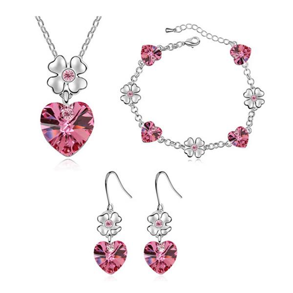 Bijoux de fantaisie italienne Qianse ensembles de mariage Made avec SW Elements cristal