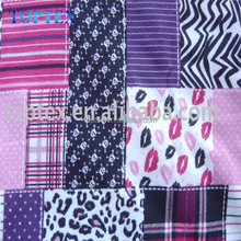 Printed cotton patchwork flannel fabric