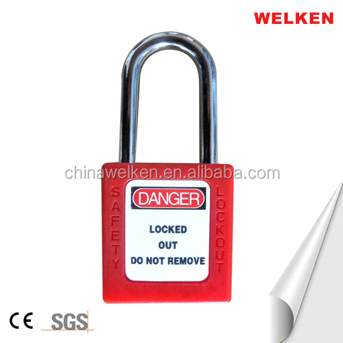 BD-8521 ABS Plastic Body Steel Shackle Safety Lockout Safety Padlock Master Key