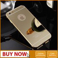 New Ultra-thin Luxury Aluminum Metal Mirror Case Cover for iPhone 6