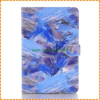 Luxury Painted Graffiti Stand Book Wallet PU Leather Case For iPad Mini 4
