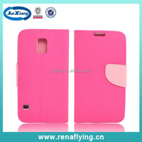 high grade leather flip case cover for Samsung S5 i9600 with card slots