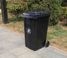 new style family trash bin ring handle plastic dustin bin waste bin