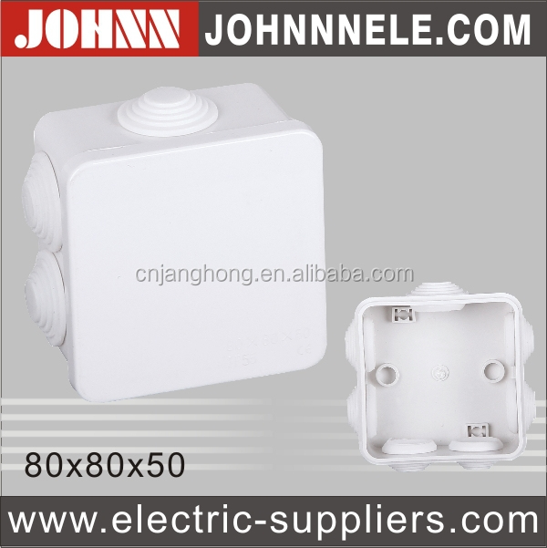White Elegant ABS Telephone Cable Junction Box
