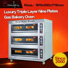 Brandon nine trays portable used bakery gas oven