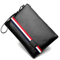 Wholesale men's zipper PU document bag envelope bag clutch briefcase
