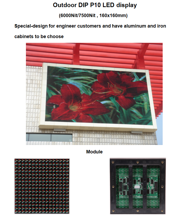 P10 high quality stable SMD outdoor comercial advertising led display panel