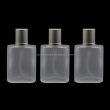 30ml 50ml100ml frosted glass perfume bottle with cap and pump spray