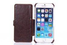 "high class fashion design 5"" inch leather for iPhone 6 case , fashional phone flip cover for iPhone"