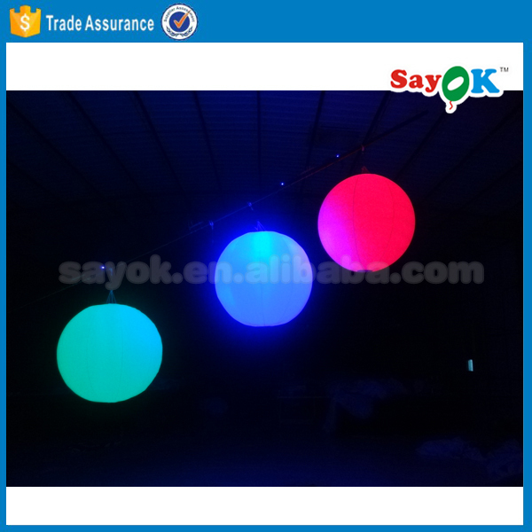 inflatable balloon with led light helium blimp hot air balloon wedding decorations