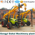 Frozen soil truck hold digger trenching machine with crane