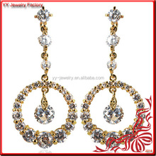 Round Rhinestone 2014 Newest Products Earring Chandelier