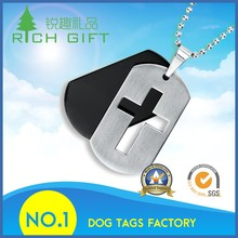 Hot sale fashion aluminum/stainless steel laser engraving logo dog/animal training collar tags