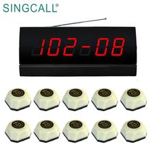 SINGCALL Wireless Call Light Restaurant Waiter Pager for Customers