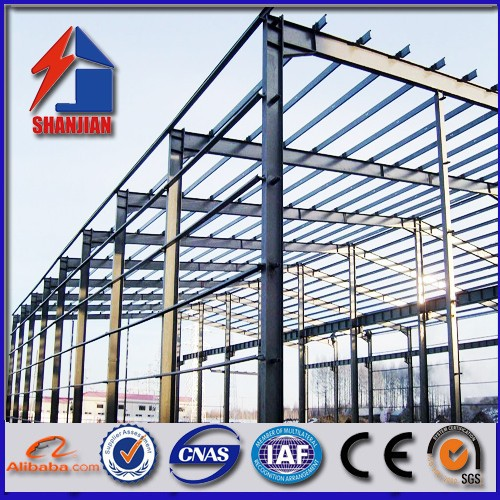 light steel frame support part structure for home and office portable prefab house