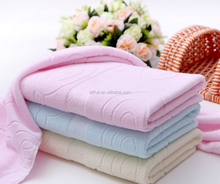 China Supplier New Design 100% Premium Cotton Velour Solid Color Jacquard Bath Towel, Towel Set