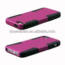 cute design silicon case for iphone5 Factory Wholesale Hybrid PC Silicone Back Cover For Iphone5