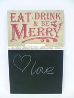 EAT DRINK AND BE MERRY CHALK BOARD WITH STND NOTICE MEMO RETRO KITCHEN