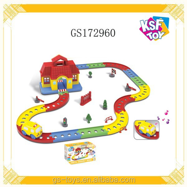 Intelligent Play Set Electric Railway Slot Toy For Kids