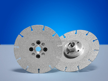 vacuum brazed diamond saw blade / diamond cutting disc for marble tiles glass
