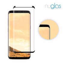 New innovative electroplating coating cell phone 3D Curved Full cover screen protector glass for Samsung galaxy S8