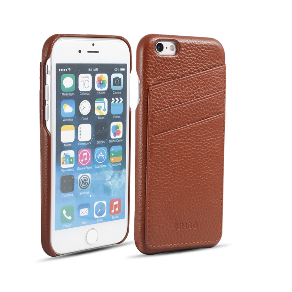 slim leather case for iphone 6 case with card slot