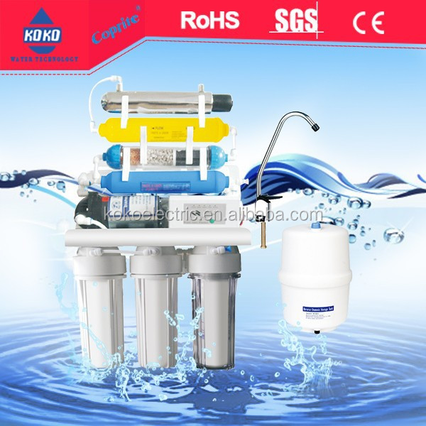 7 stages ro water filter <strong>system</strong> with uv lamps KK-RO50G-X