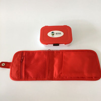 Medcine box with bag plastic pill container
