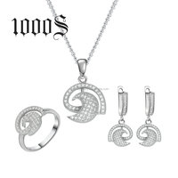 Silver Jewelry Set 925 Latest New Designs Pendant and Earring Jewelery