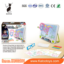 Electric Educational toys 3d magic drawing board for kids