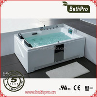 CE guarantee right corner square design massage bathtub