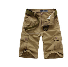 onenweb fashion short cargo 3/4 long cotton pants with multi pockets
