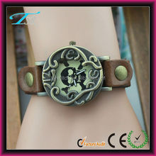 bronze case watches with skulls,watch band removable,cool watch