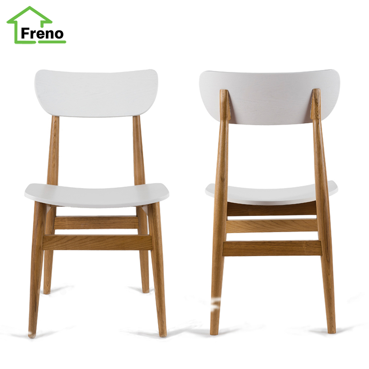 FN-5494 white new design wooden dining room chairs