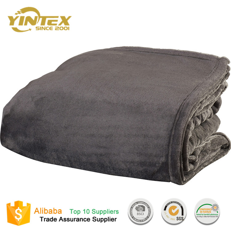 Polyester% High Pile Plush Fleece Blanket for Home and Hotel