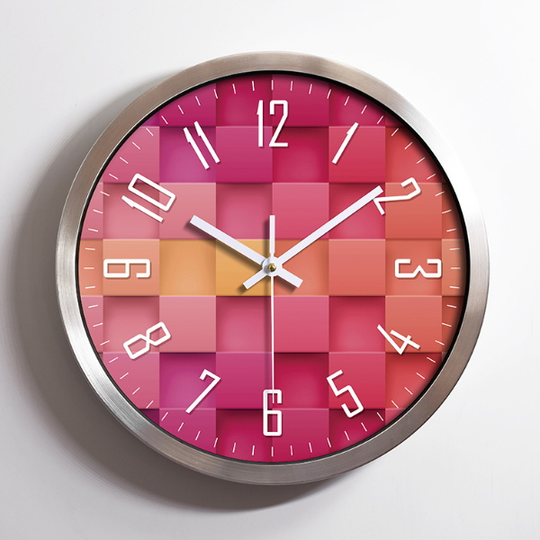 Round PVC Battery Powered Quartz Wall Clock