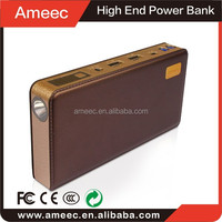 Car starting power bank,big lamp light,imitation leather case,factory directly made in China