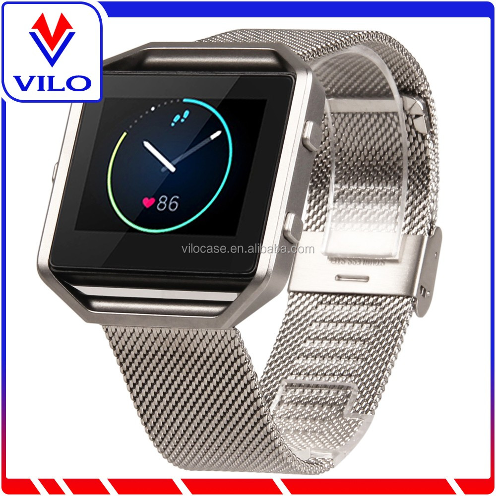 Magnetic Closure Milanese Loop Stainless Steel Watch Band Strap for Fitbit Blaze Smart Fitness Watch