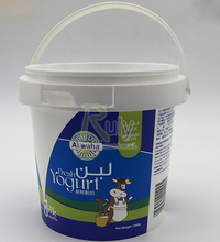 Customize logo 500ml Recycled Plastic Ice Cream Container/tub