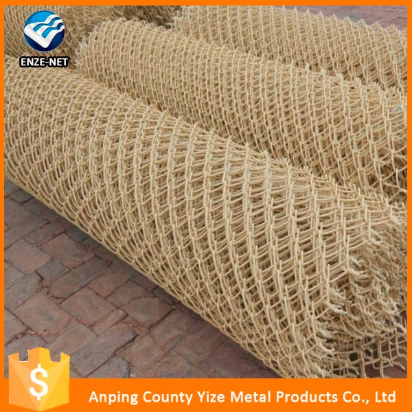 High quality 5x5 animal chain link fence /Sell well ISO9001 chain link fence plastic coated mesh fence roll ( factory)