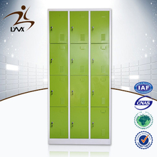 Factory price 12 door widely used school lockers for sale / steel closet locker