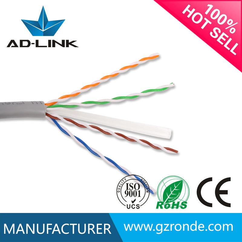 250MHz 4pair bare copper 1000ft CU cat6 utp cable 20 awg