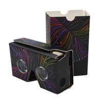 High quality google cardboard Virtual Reality CMYK printing vr Goggles free samples of vr google cardboard