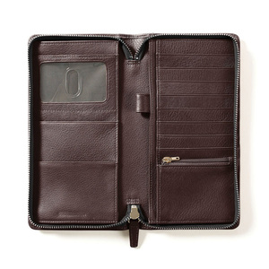 Real leather travel wallet passport holder mens travel wallet