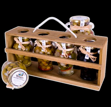 Gourmet Wooden Boxes, Olives