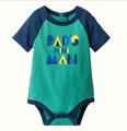 Baby Boys' Short Sleeve Mini Man Babysuit