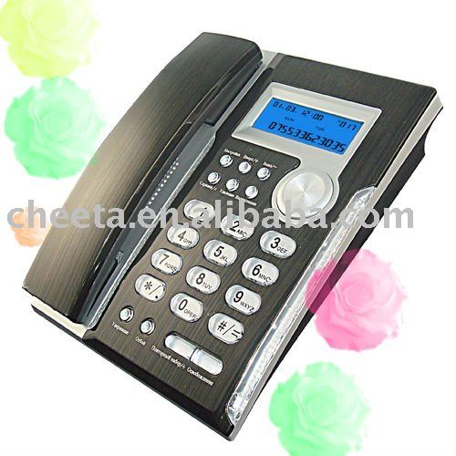 Beautiful caller id telephone set,Crystal side telephone