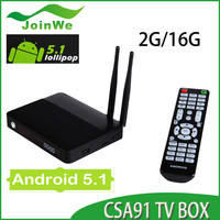 Csa91 Android 5.1 Tv Box Rk3368 Octa Core 2g+16gb 4k Bt 4.0 Wifi 2 Antenna Kodi Smart Media Player New Iptv Box Csa91