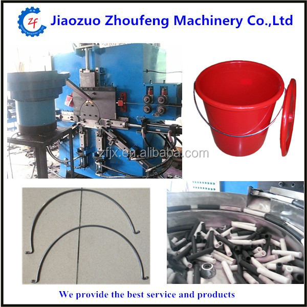 Automatic steel metal wire bucket handle making machine