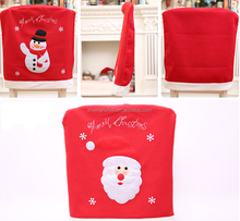 Christmas decorations high quality santa claus chair cap covers christmas chair covers